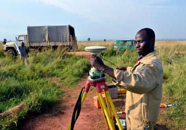 Geometer during our Seismic Survey in Uganda - Exploration Production - Total