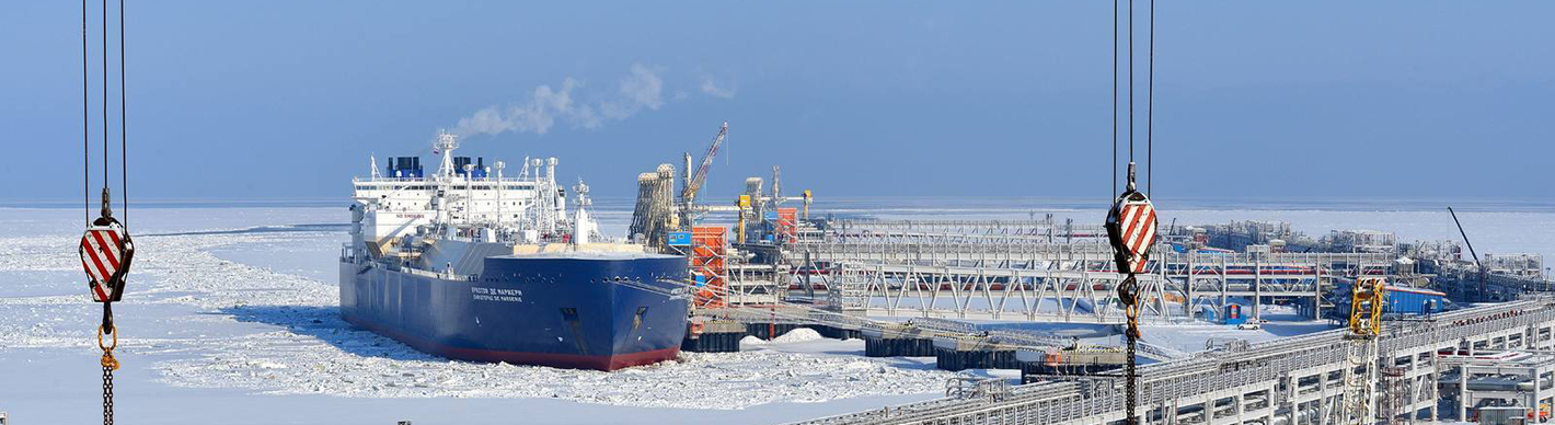 Christophe de Margerie gas tanker at the port of Sabetta, Russia - Exploration Production - TotalEnergies