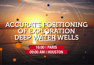 Accurate positioning of exploration deep water wells