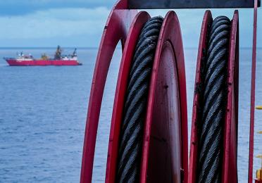 Cables on theTungsten Explorer - Moho Nord - Exploration Production - Total