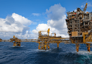View of the Tyra platform, Danish North Sea - Exploration & Production - TotalEnergies
