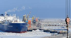 Christophe de Margerie gas tanker at the port of Sabetta, Russia - Exploration Production - Total