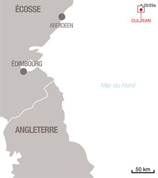 Carte projet Culzean - Exploration-Production - Total