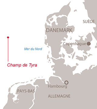 Carte projet Tyra - Exploration-Production - Total