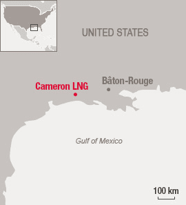 Map of Cameron LNG site - Liquefied natural gas - Exploration & Production - Total
