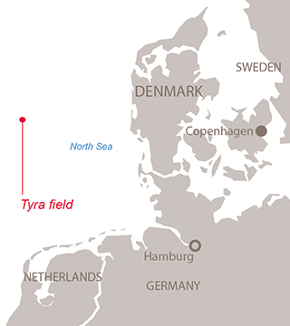 Tyra project map - Exploration & Production - Total