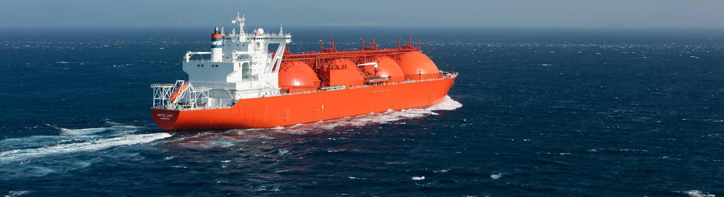 Arctic Lady LNG tanker in the Strait of Gibraltar - Exploration Production - Total