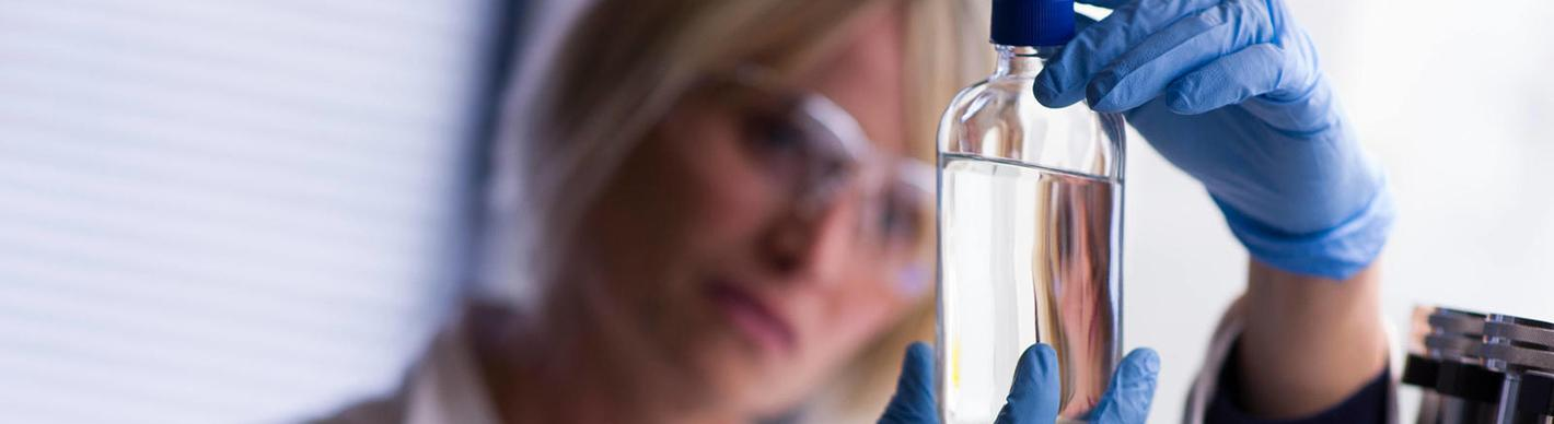 Woman in a laboratory at CSTJF- Research& Development- Exploration & Production - Total