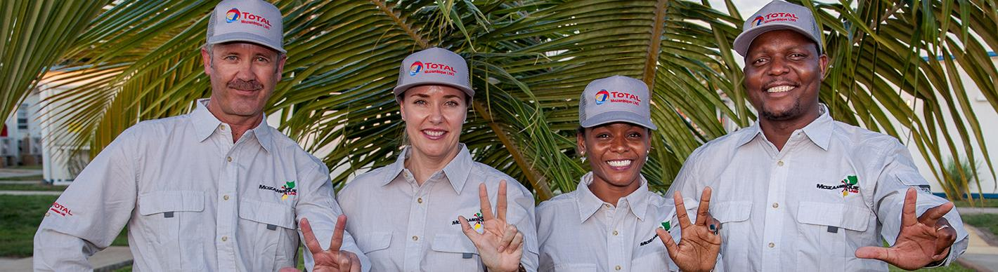 Team of Mozambique LNG terminal - Exploration & Production - Total