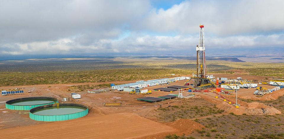 Aerial view from the Vaca Muerta field, Argentina - Exploration & Production - Total