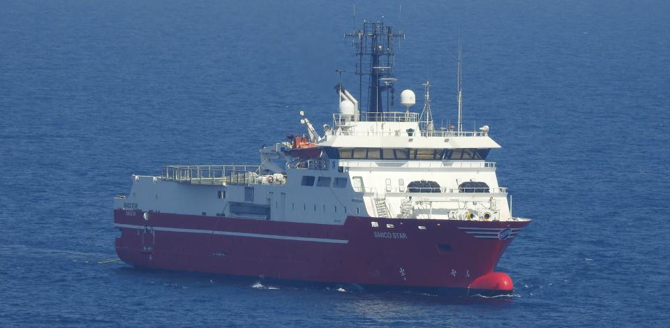 Chaser ship - Ocean Bottom Nodes Exploration Campaign - North Oil Company - Exploration & Production - TotalEnergies