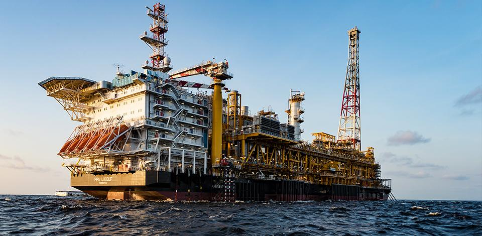 The FPSO Likouf at sea, Congo - Exploration & Production - Total
