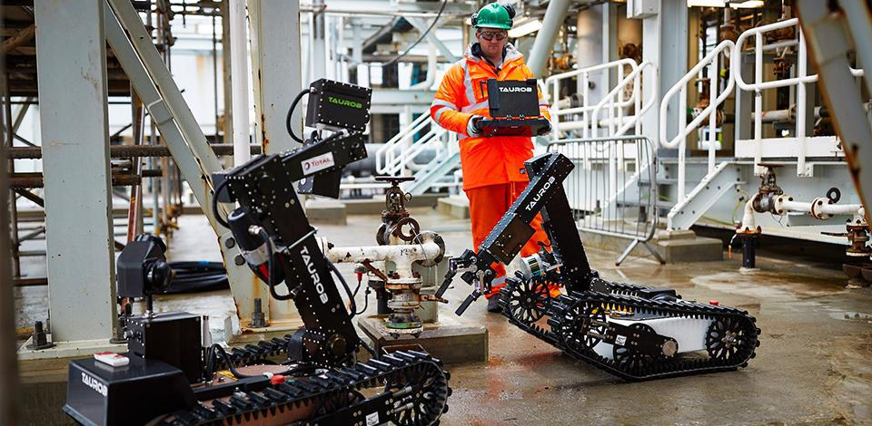 Robot Taurob, Usine de Traitement de Gaz, Shetland, Royaume-Uni - Exploration Production - Total
